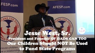 Jesse West, Sr., President and Founders of DADS CAN TOO, spoke at t...