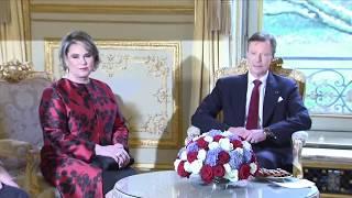 Henri en Maria Teresa op staatsbezoek in Frankrijk
