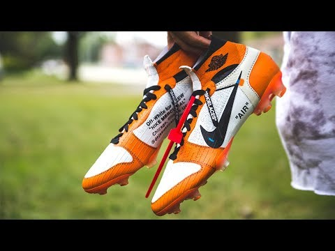 CUSTOM OFF WHITE SUPERFLY SOCCER CLEAT TUTORIAL