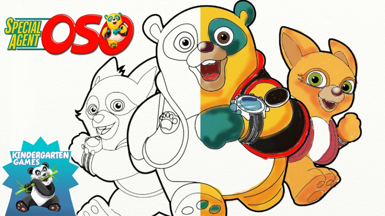 Coloring For Preschoolers SPECIAL AGENT OSO Coloring Page