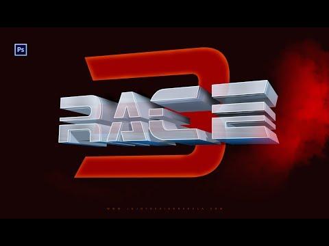 Race 3 Movie Logo | How to make 3D logo in Photoshop CC by Ju Joy Design...