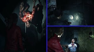 Resident Evil 2 Remake Mythbusters - How To Sneak Past Lickers & How To Hide From Mr. X