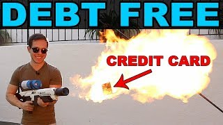 DESTROYING all my credit cards with a FLAMETHROWER