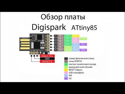 Как прошить Digispark ATTiny85. Обзор платы Digispark ATTiny85. Установка драйверов.