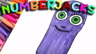 Bbs cbeebies kids learning maths coloring The Numberjacks Number One