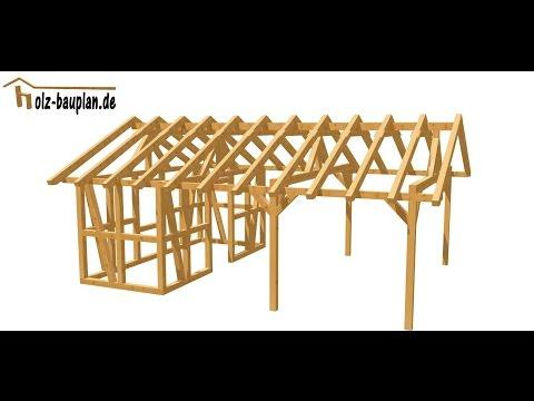 aufbau holzgarage zimmerei lepski doovi. Black Bedroom Furniture Sets. Home Design Ideas