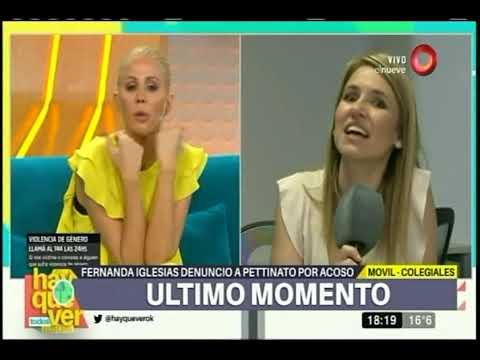 Fernanda Iglesias acusó a Roberto Pettinato: