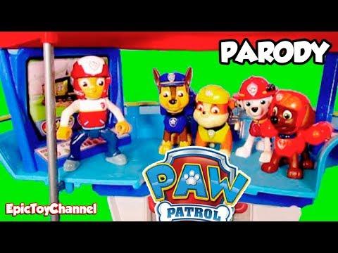 PAW PATROL Parody Nickelodeon LOOKOUT PLAYSET Paw Patrol Toy Video