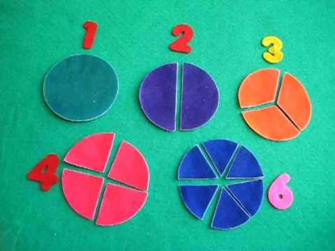 Preschool - Math. beginning fractions - YouTube
