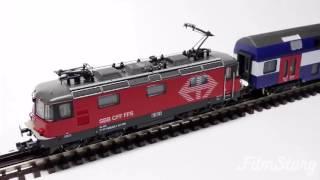 """Fleischmann 734006,734007 SBB """"LION"""" Re420 (Re4/4II)+Doppelstockwagen Spur N"""