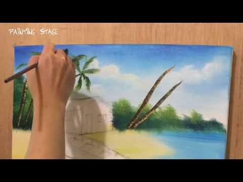 Painting Stage油畫教學-海邊小屋