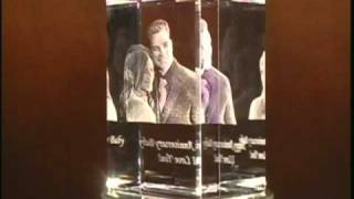 3d crystal portrait of Anniversary Couple