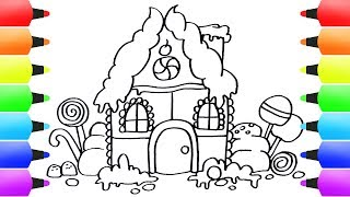 How to Draw Gingerbread House Easy for Kids! Drawing Ideas for Children