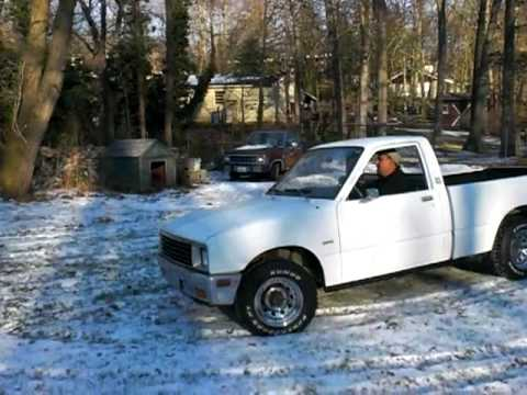 82 Chevy Luv 4x4 Diesel Test Drive Youtube