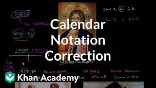 Correction calendar notation | Cosmology & Astronomy | Khan Academy