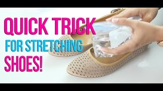 Shoe Stretching Trick To Make Any Shoe Fit!