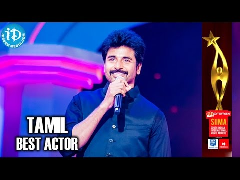 SIIMA 2014 Tamil Best Actor | Sivakarthikeyan | Ethirneechal Movie