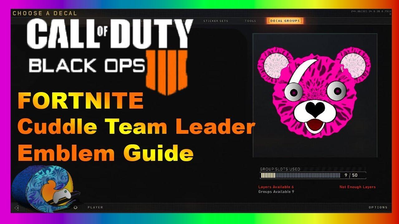 FORTNITE Cuddle Team Leader Emblem Tutorial - Call of Duty BO4