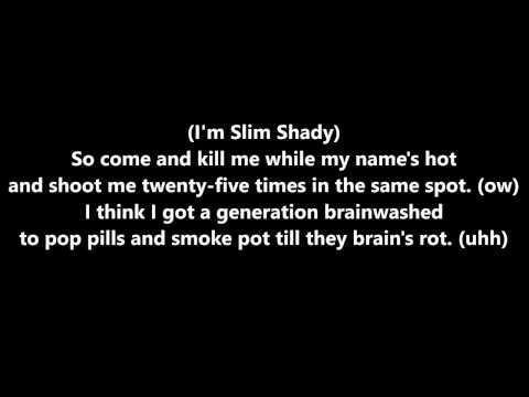 Eminem  Im Shady Lyrics HD