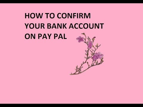 Confirm Your Bank Account With Paypal