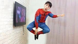 TV 밖으로 나온 마슈 스파이더맨! 내 친구 스파이더맨을 도와주자 Superhero Spiderman - 마슈토이 Mashu ToysReview