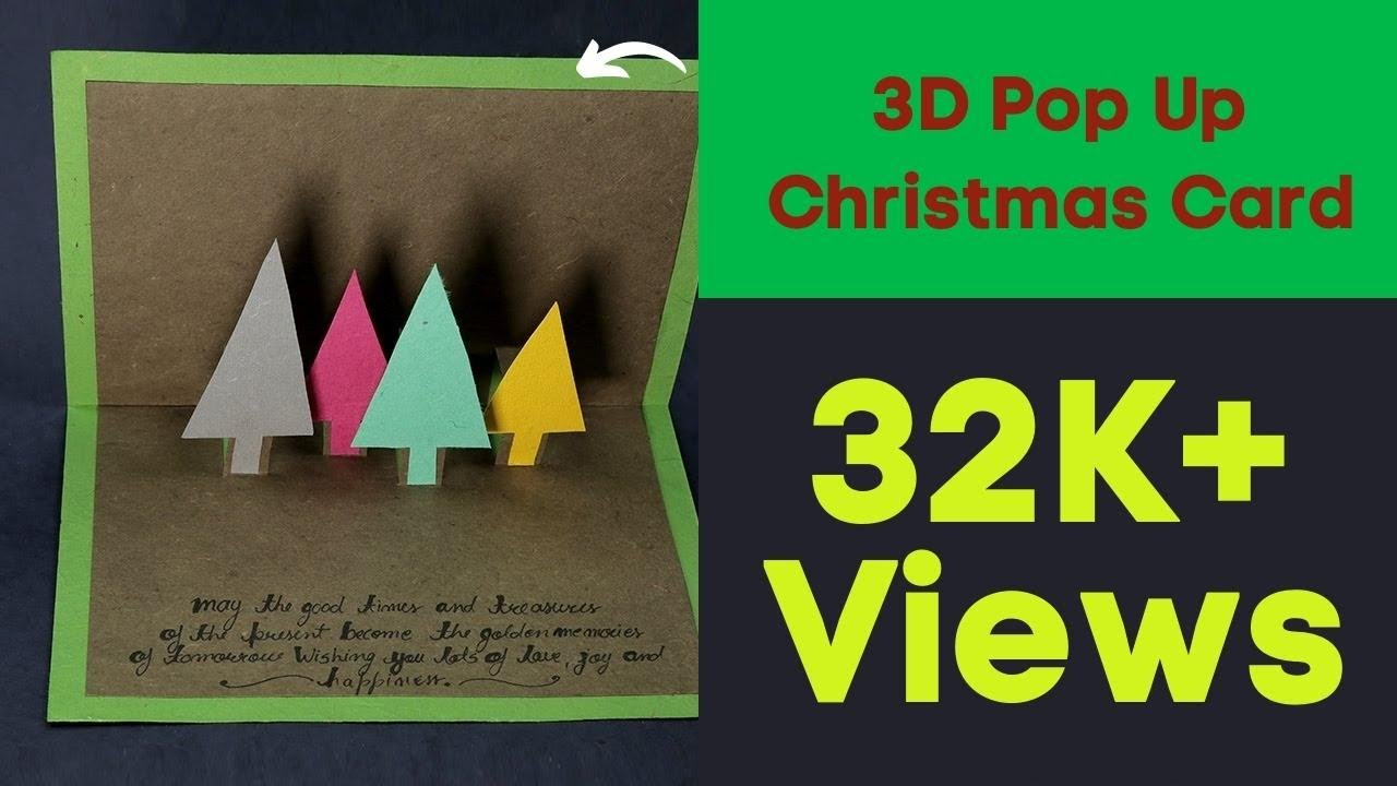 Handmade Christmas Cards - 3D Pop Up Christmas Card - YouTube