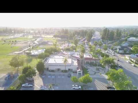 Pico Rivera Farmers Market Drone View