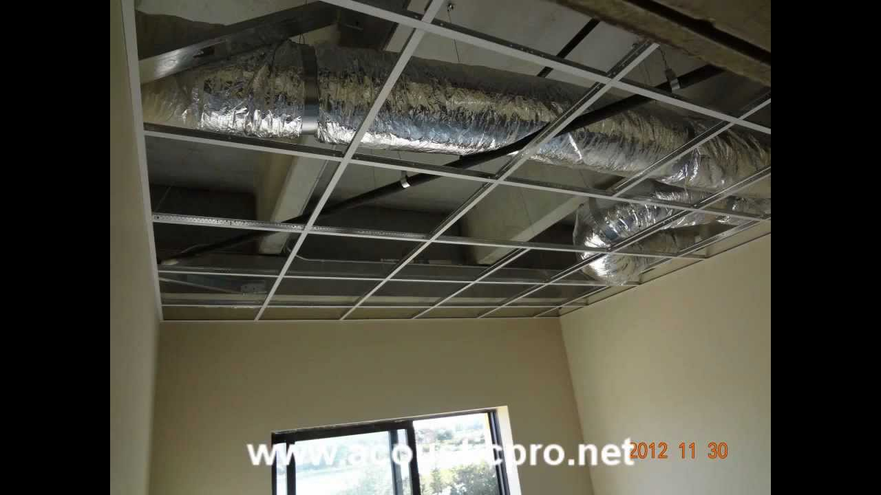 Acoustical drop ceiling tile grid install acoustic pro acoustical drop ceiling tile grid install acoustic pro armstrong cortega installation youtube doublecrazyfo Images