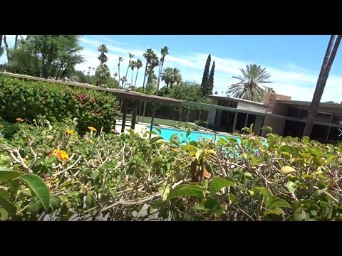 Video 4 Palm Springs celebrity star's homes. Frank Sinatra's home. Old Blue Eye's