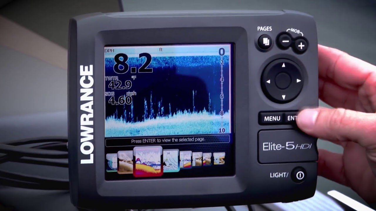 elite 5 hdi fishfinder lowrance youtube. Black Bedroom Furniture Sets. Home Design Ideas