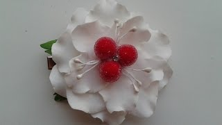 DIY Фантазийный цветок из фома/Fantasy flower