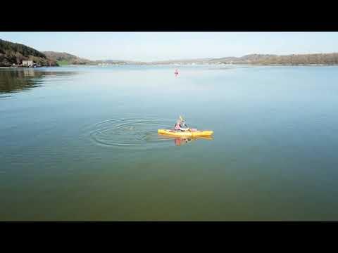 Kayaking at Dhoon Bay, Kirkcudbright.
