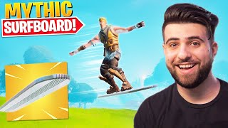 The New MYTHIC SURFBOARD IS INSANE!! - Fortnite Season 4