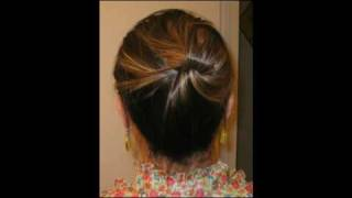 Quick Hair Trick: Updo without any hair ties, clips, & pins!