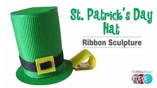 How to Make a St Patricks Day Hat Ribbon Sculpture - TheRibbonRetreat.com
