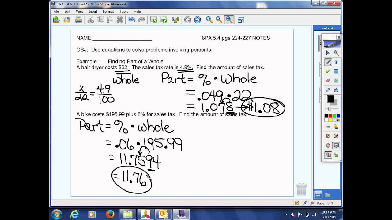 8th Grade Pre-Algebra 5.4 Video Lesson - YouTube