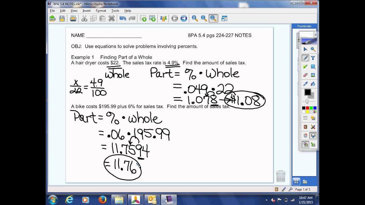 8th Grade Pre Algebra 5 4 Video Lesson
