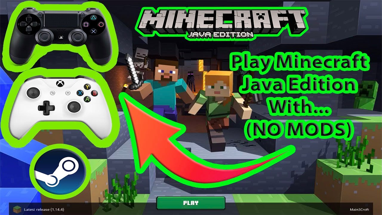Minecraft Java Edition With a CONTROLLER (NO MODS)