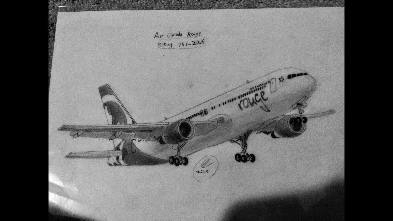 My commercial aircraft drawings, and a disney castle - YouTube
