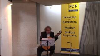 "(2) Franz Maisel (Gesang und Gitarre): ""Tango korrupti"" - FDP Neujahrsempfang Wiesloch 11.1.2015"