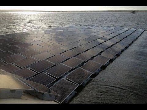 The world's biggest floating solar farm has been built on a reservoir in Britain.