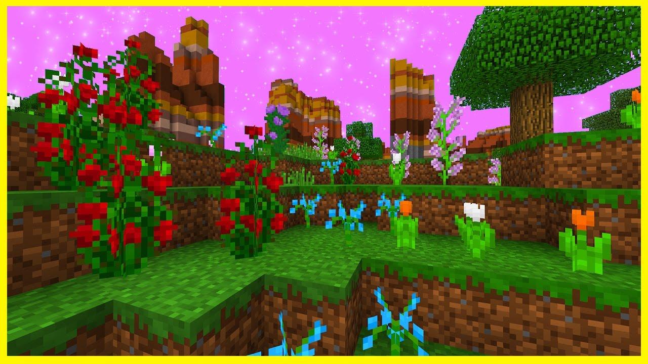 minecraft pe seeds - beautiful spawn! flower biome & triple village seed -  best mcpe seeds 1.1 / 1.0