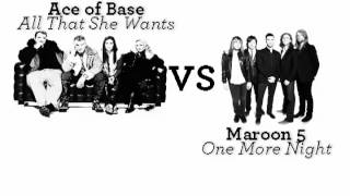 Ace of Base - All That She Wants & Maroon 5 - One More Night Mashup