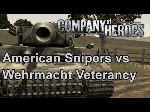 Company of Heroes: American Snipers vs Wehrmacht Veterancy