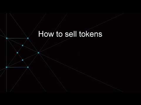How to sell tokens on DDEX