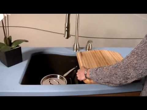 Elkay Harmony E Granite Double Bowl Sink With Aqua Divide   YouTube