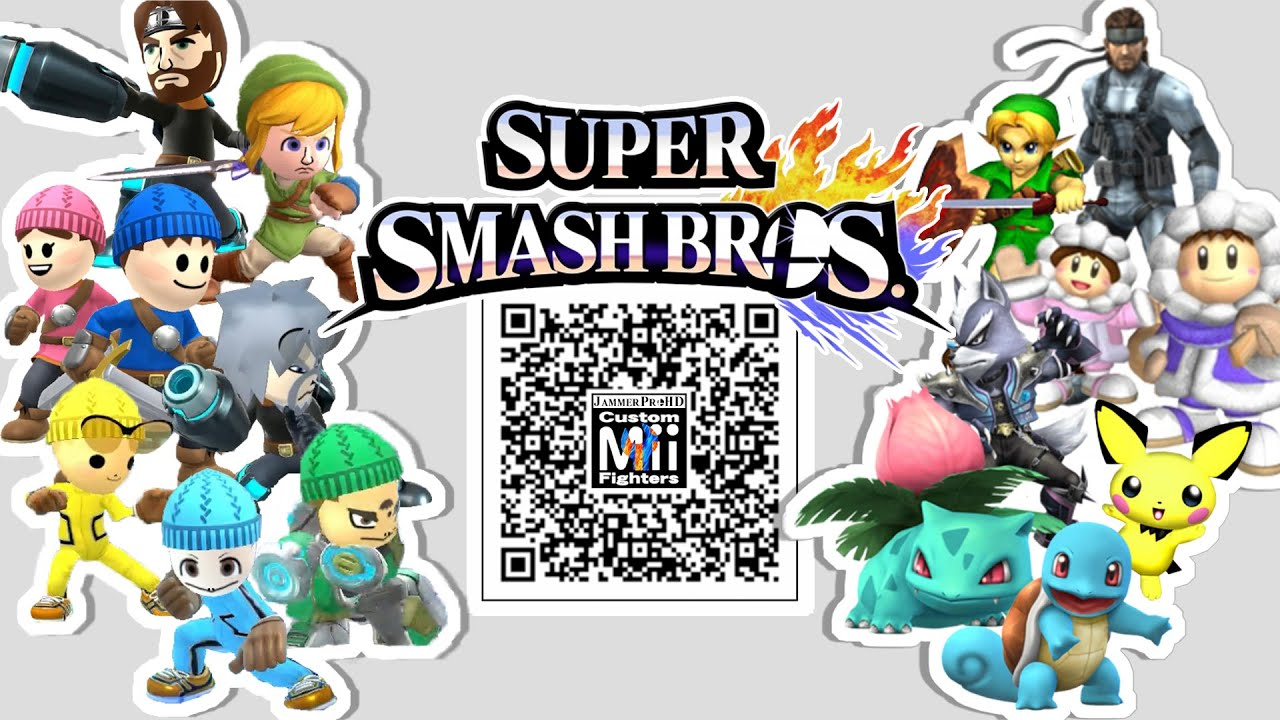 snake wolf ice climbers more mii fighter qr codes for smash