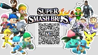 Snake, Wolf, Ice Climbers, & MORE! Mii Fighter QR Codes for Smash Bros