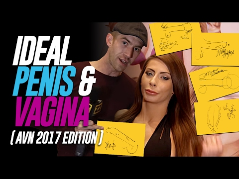 Porn Stars Draw Their Ideal Penis & Vagina AVN 2017 Edition
