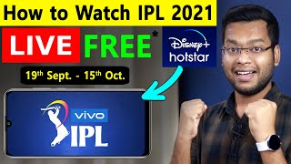 How to Watch IPL 2021 LIVE in Mobile 😍🔥 How to Watch IPL Live - IPL 2021 Live Free Me Kaise Dekhe